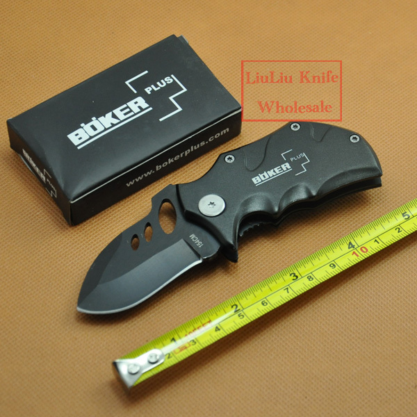 OEM Boker Plus Folding Knives Gift Pocket Case Knife 420 Steel Knife Black Free Shipping(China (Mainland))