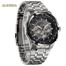 ALIOSHA Top Sale WEIDE Men s Sports Quartz Watches Casual Diver for Men With Full Stainless