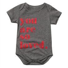 Одежда для малыша младенца новорожденного короткий рукав письмо детские комбинезоны с печатью новорожденных комбинезон Одежда для новоро...(China)