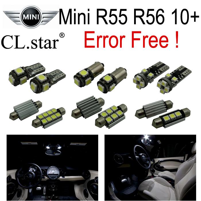 13pc XCanbus Error free Mini Cooper R55 R56 LED Interior Light Kit Package (Aug/2010+)(China (Mainland))