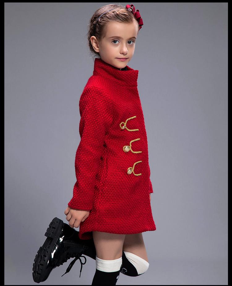 Скидки на Дети пальто 2016 новая мода осень зима бренда девушки пальто ретро дети куртки девушка clothings высокое качество