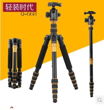 Здесь можно купить  free shipping Q-668 Pro SLR Camera Aluminum Alloy Tripod Monopod with QZSD-02 Ball Head   Бытовая электроника