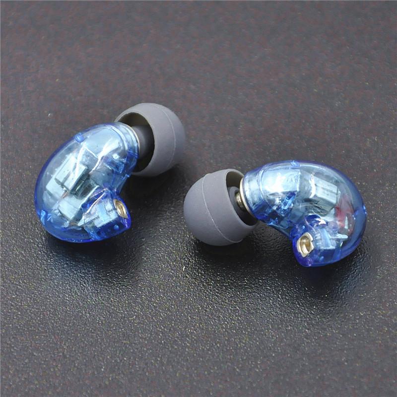Wooeasy DIY846 5/6 Units Balanced Armature Earphone DIY Headset New Blue Color Custom Made Around Ear Earphone