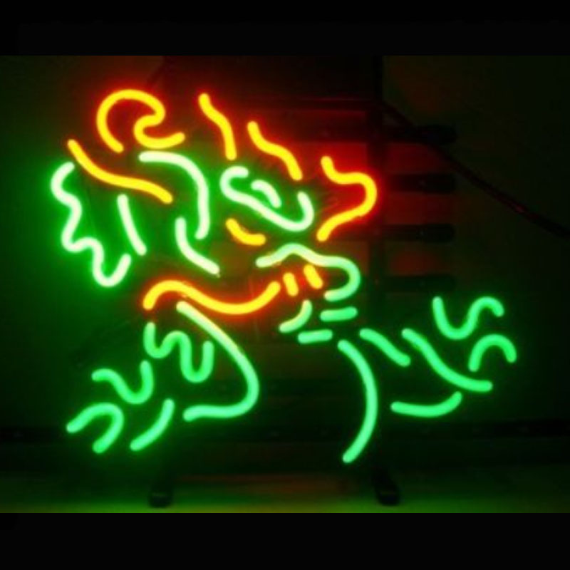 Neon Sign BEER BAR CLUB MILLER GAME Neon Light Sign Dragon Lamps Arcade handcraft Glass Neon Lamps Publicidad Neon Lights 17x14(China (Mainland))