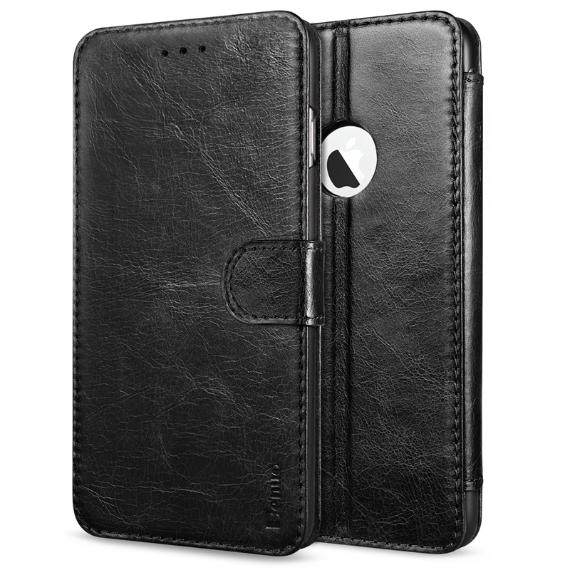 Benuo Case Built-in Slots Series Magnetic Snap Classic Genuine Leather Case Flip Cover Stand for Apple iPhone 6 Plus / 6s Plus(China (Mainland))