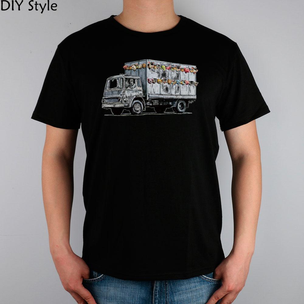 IC BANKSY STYLE TOY TRUCK t-shirt top Lycra cotton Fashion Brand t shirt men new DIY Style High Quality(China (Mainland))