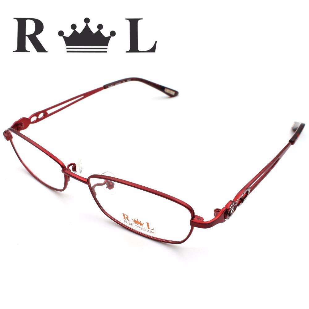 Multicolor Eyeglasses Frames Women Fashion 2016 Plain Mirror Ultralight Eyewear Male Vintage Gilded Tag Glasses Frame RL5003-03(China (Mainland))