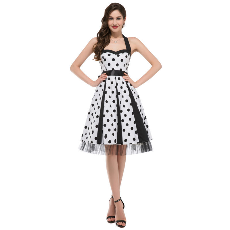 2015 Summer Style Polka Dots Short Cotton Party Dresses Maggie Tang 50s 60s Vintage Pin Up Swing Rockabilly Robe Vestidos 6090(China (Mainland))