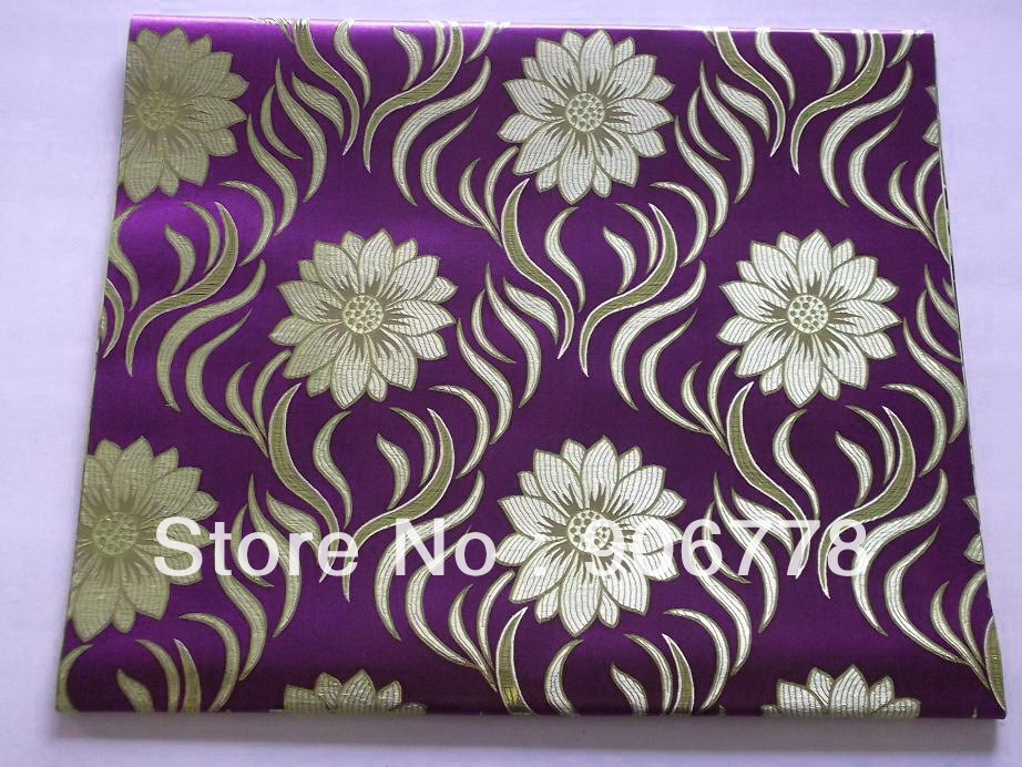 Purple headtie fabric with latest pattern jubilee sego head tie gele 2pcs/bag for wedding and party,lace fabric is available too(China (Mainland))