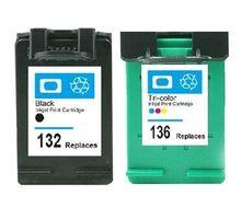 HP132 136 Compatible Ink Cartridges HP 132 Deskjet 5420 5420V 5440 5440XI Photosmart C3100 C3110 c3125 - printer consumable Center store