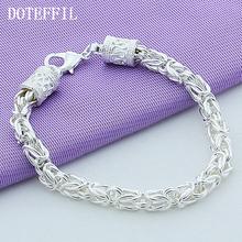 Buy Bracelet 925 Silver Bracelet Fashion Jewelry Men Women Bracelets Wholesale Free Plated Silver Bracelets Women for $4.40 in AliExpress store