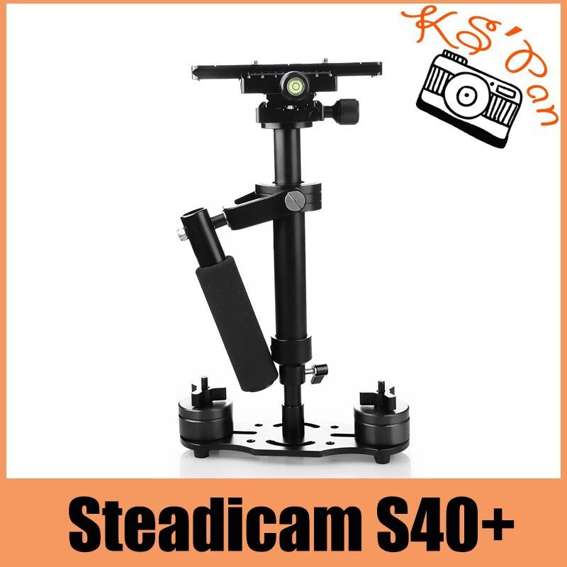 ถูก S40 + 0.4เมตร40เซนติเมตรไฟเบอร์มือถือS Teadycam S Tabilizer S TeadicamสำหรับCanonสำหรับNikonสำหรับGoPro AEE DSLRกล้องวิดีโอ