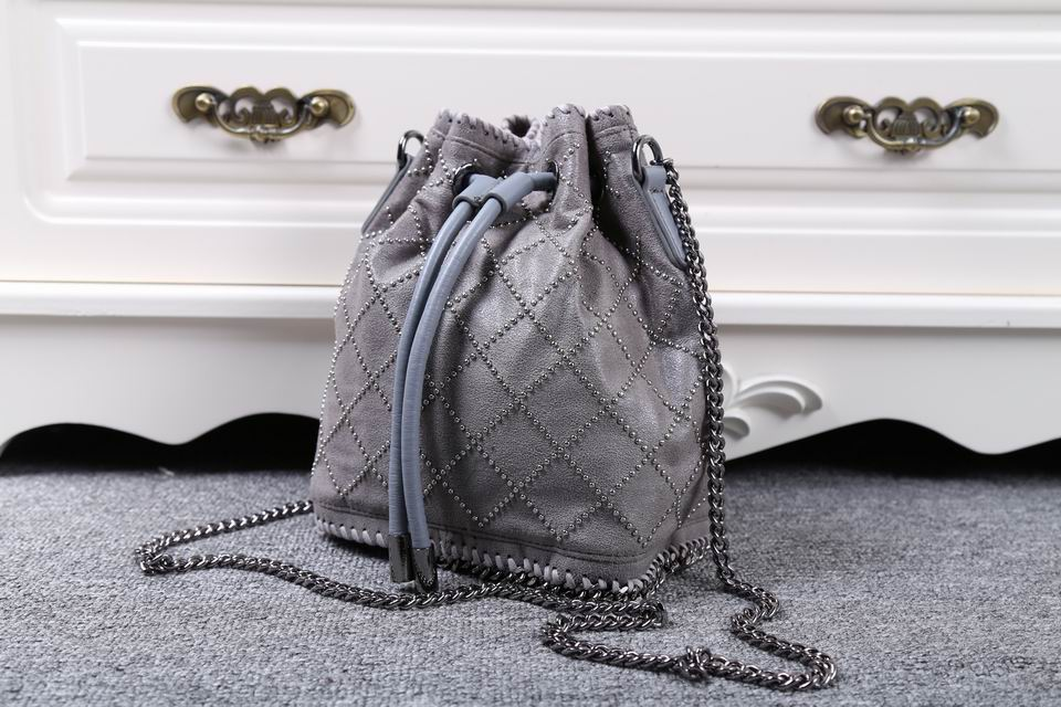 new arrive  women bag Rivet quilting man-made leather bucket bag free shipping five color<br><br>Aliexpress