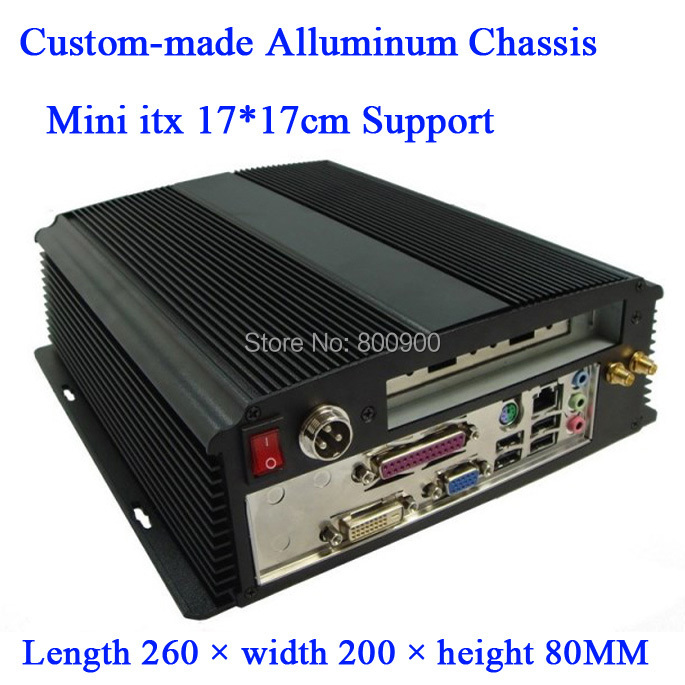 Custom made All-aluminum chassis car chassis HTPC chassis PCI expansion chassis exquisite small computer fixed I/O mini itx chas(China (Mainland))