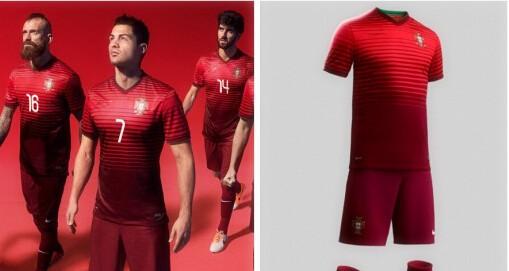 Hot Embroidery Home Cristiano Ronaldo Nani Coentrao Pepe Football Kit Uniform Men Sports Shirt Outfit Portugal Soccer Jer