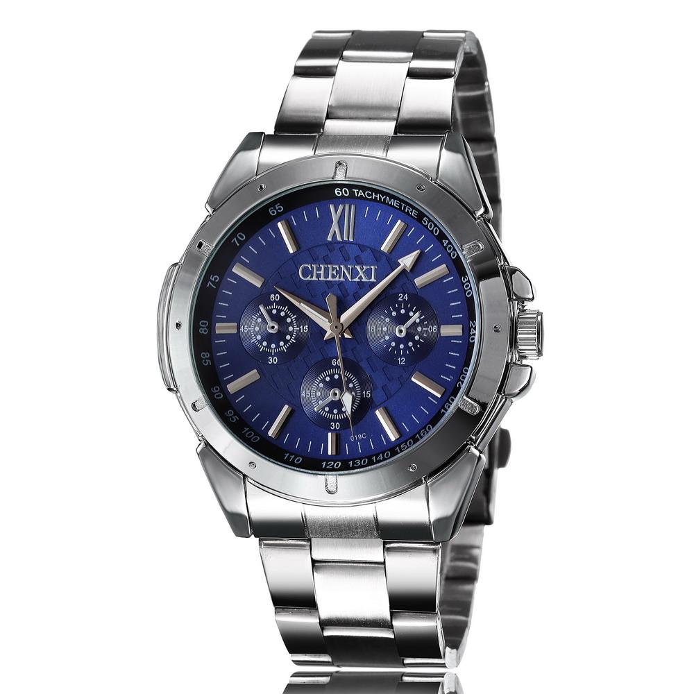 CHENXI Brand Men Gold Watch Stainless Steel Men Military Quartz Watch Relogio Masculino Sport Watches Man Wristwatch Clock Reloj