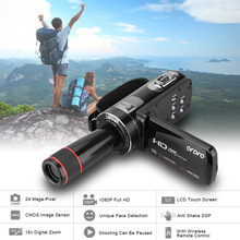 ORDRO HDV-Z8 Full HD 1080P Video Camera Camcorder 24 MP 16x Digital Zoom LCD Touch Screen with 12x Telephoto Lens Mini Camera DV(China (Mainland))