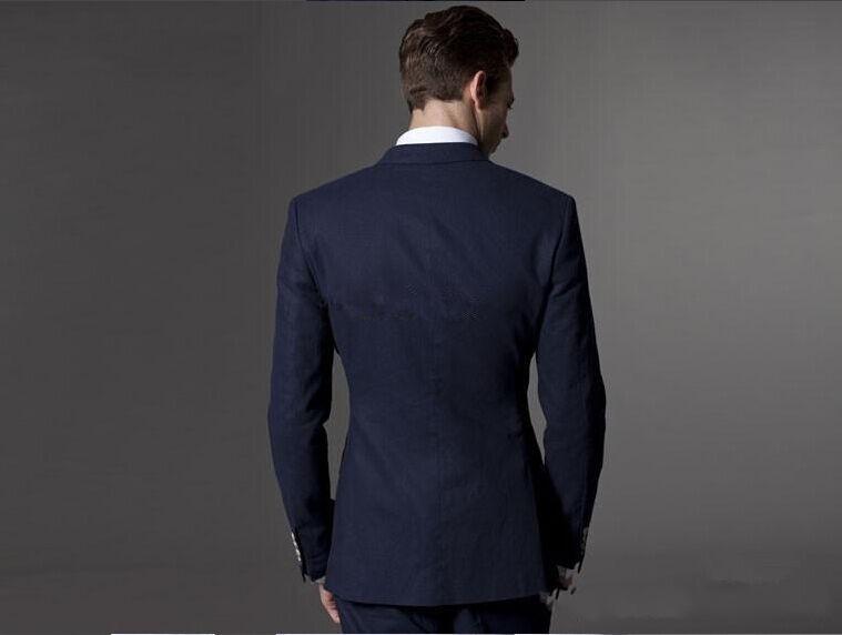 2016-Slim-Fit-New-Arrival-Custom-Made-Groom-Tuxedos-Peak-Lapel-Men-s-Suit-Groomsman-Best (3)