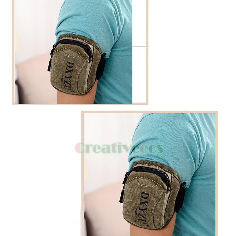 Men's Canvas Fitness Jogging Running Pouch Wrist Arm Band Hip Bum Belt Waist Cell Mobile Phone Bag(China (Mainland))