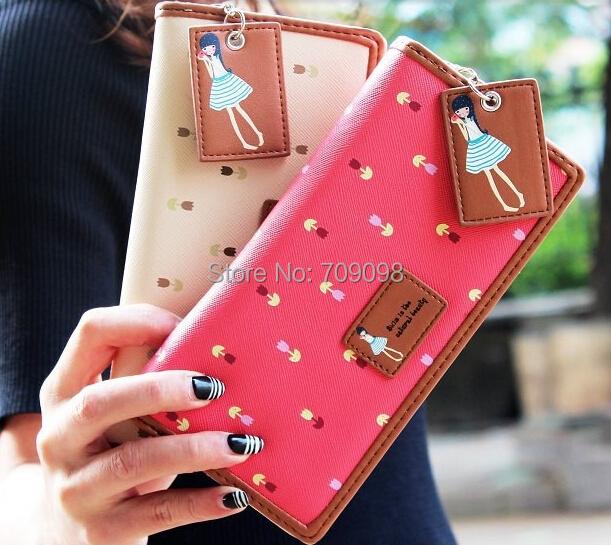 fashion girls clutch long purse wallet