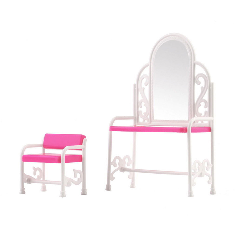 Гаджет  Dressing Table & Chair Accessories Set For Dolls Bedroom Furniture Toy  None Игрушки и Хобби