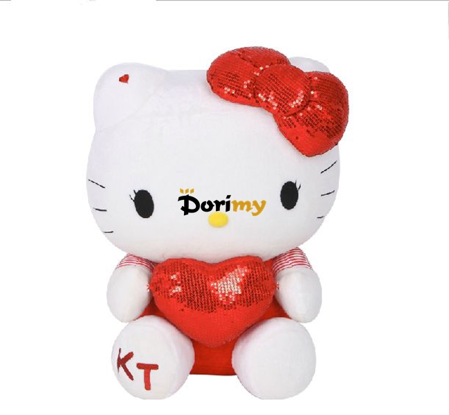 Dorimytrader 33'' / 85cm Copyrighted Limited Edition! Giant Large Stuffed Plush Lovely Hello Kitty Toy, Free Shipping DY60129(China (Mainland))