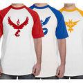Pokemon Go Team Valor Top quality O Neck men tshirt short sleeve print casual Team Mystic