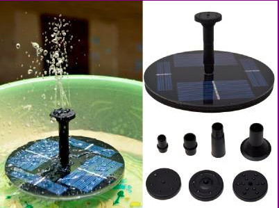 7V Floating Water Pump Solar Panel Garden Plants Watering Power Fountain Pool Free Shipping(China (Mainland))