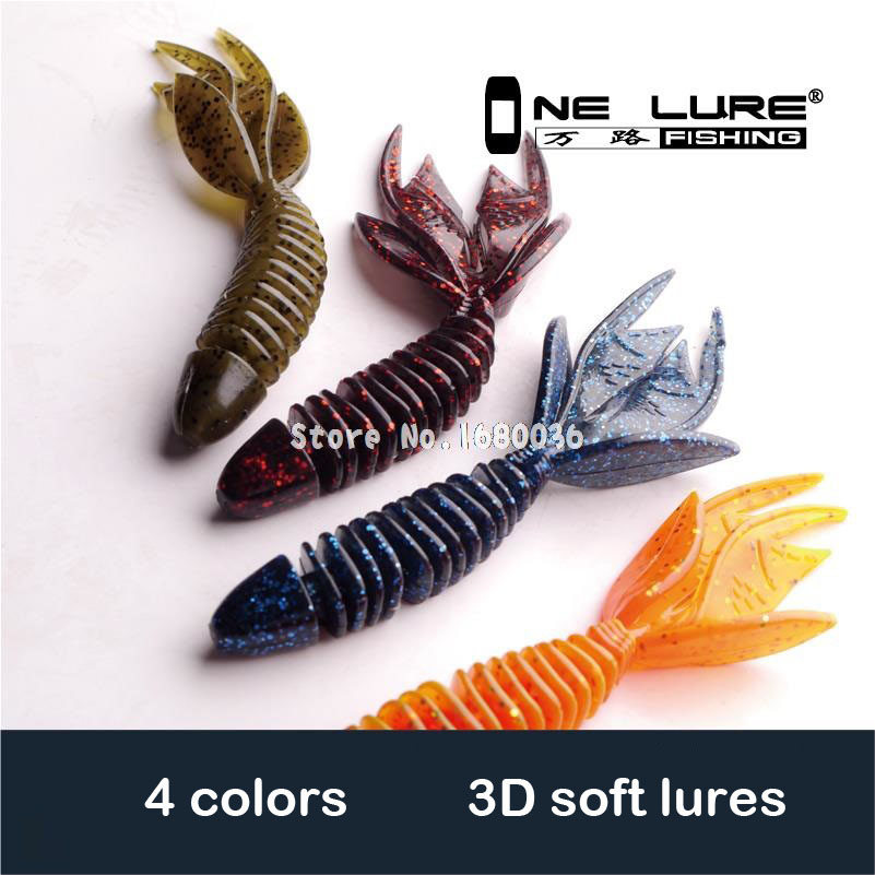 4pcs/lot 2015 fishing soft lures soft baits 10cm 7.8g 4 colors soft lure fishing products china Multi-tail worms free shipping(China (Mainland))