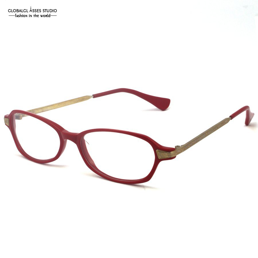 Stylish Brand Design Classic Red Acetate Frame With ...