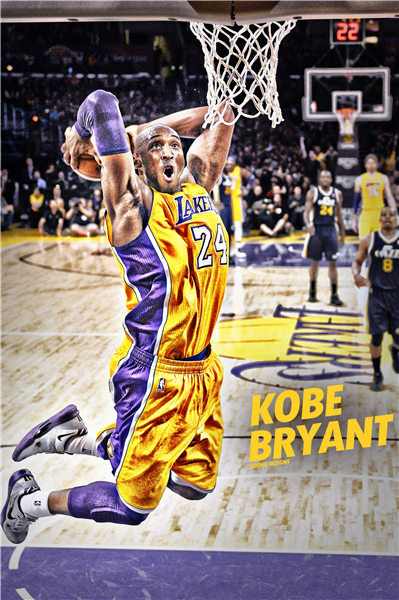 Decorative Kobe Bryant Posters Slam Dunk Stickers Custom Canvas NBA Basketball Wallpaper Kids Wall Sticker Home Decor #P1365#(China (Mainland))