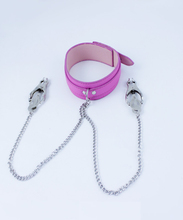 Buy Bondage Slave PVC Leather Collar Metal Breast Nipples Clamps Adult Games,Fetish Sex Products Toys Women - AW155
