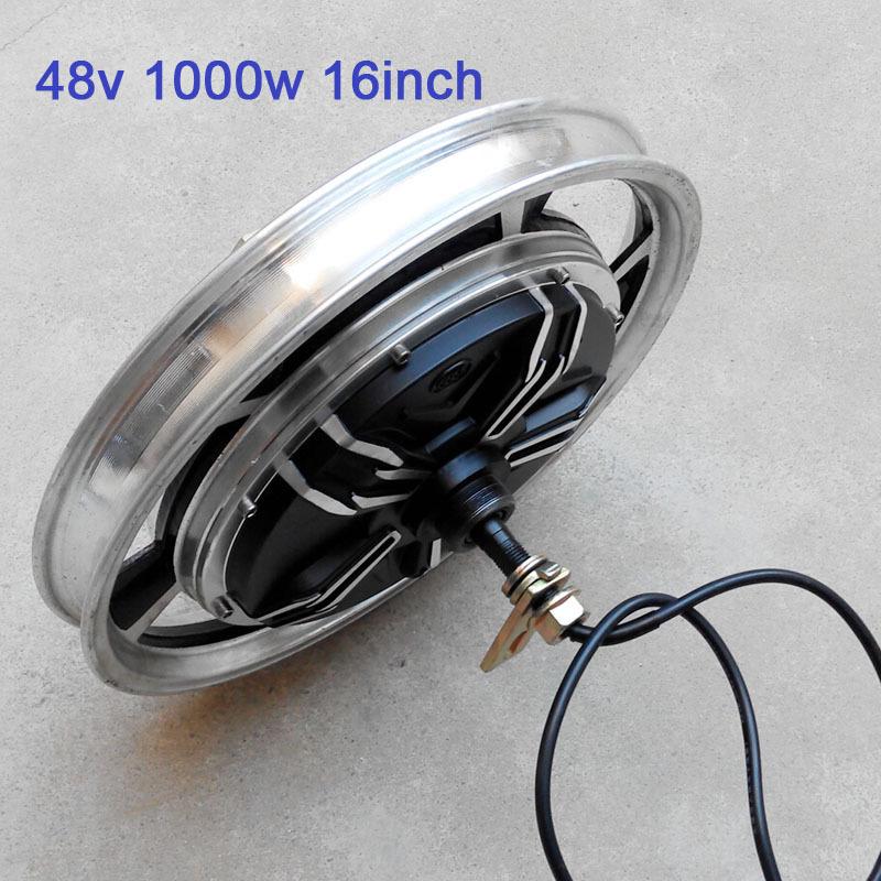 Customized 48v 1000w electric bike hub motor 16inch 2 5 for Scooter hub motor kit