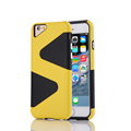 Fashion Colorful PC Silicone TPU Phone Case for iPhone 6 6S Plus Back Cover Cases for