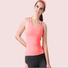 2016 new 4 Colors Summer Women sports vest Dry Quick Loose Gym Tank Tops Fitness Sport Sleeveless Vest Singlet for Running vest(China (Mainland))