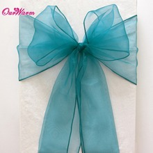 Wholesales 50Pcs/lot Organza Bow Chair Sashes 18CM*275CM for Wedding Party Banquet Chair Decoration Supplies(China (Mainland))