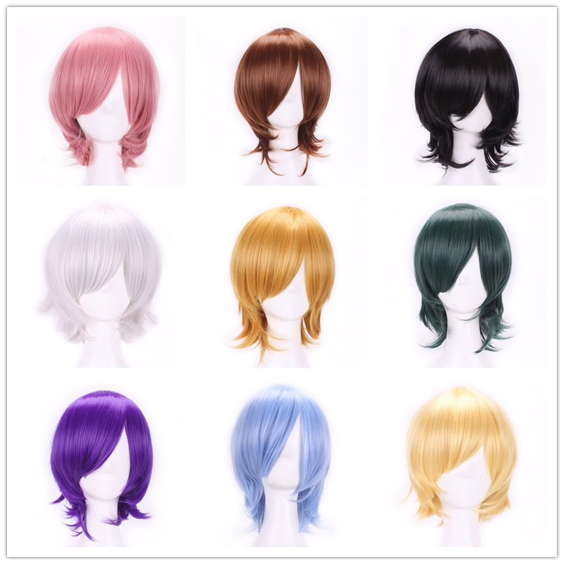 Гаджет  Perruque Bob Wig New Stylish Harajuku Cheap Cosplay Wigs Heat Resistant Short Colors Synthetic Hair Wigs For Japanese Anime Wig None Волосы и аксессуары