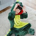 2016 Children pajamas Green dinosaur baby boys clothes unicornio Autumn Children nightgown pyjamas kids animal pijamas