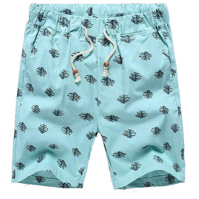 2016 горячая распродажа летом белый льняные шорты мужчин свободного покроя уменьшают ...