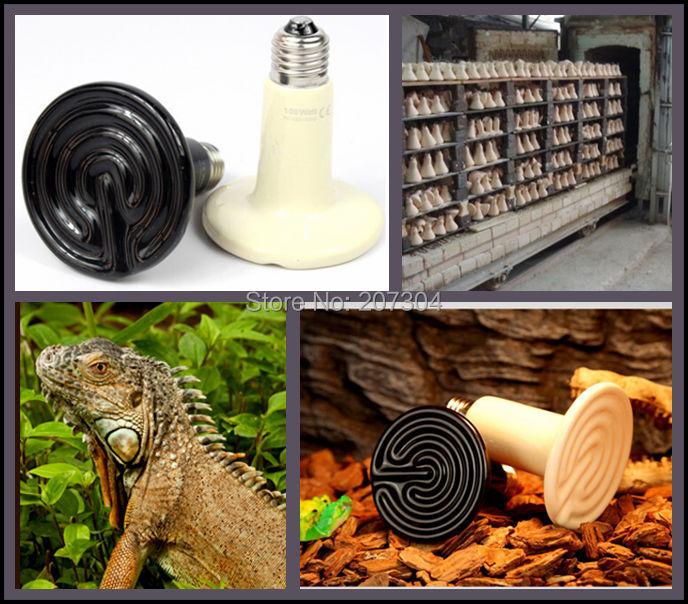 40Pcs/lot 110v/220v 150W Ceramic Emitter Heated Pet Appliances Reptile Heat Lamp Light P403(China (Mainland))