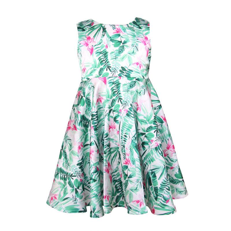 Girl Dress 2016 Fashion Kids Clothes Floral Print Children Party Princess Wedding Children Vestido Infantis(China (Mainland))