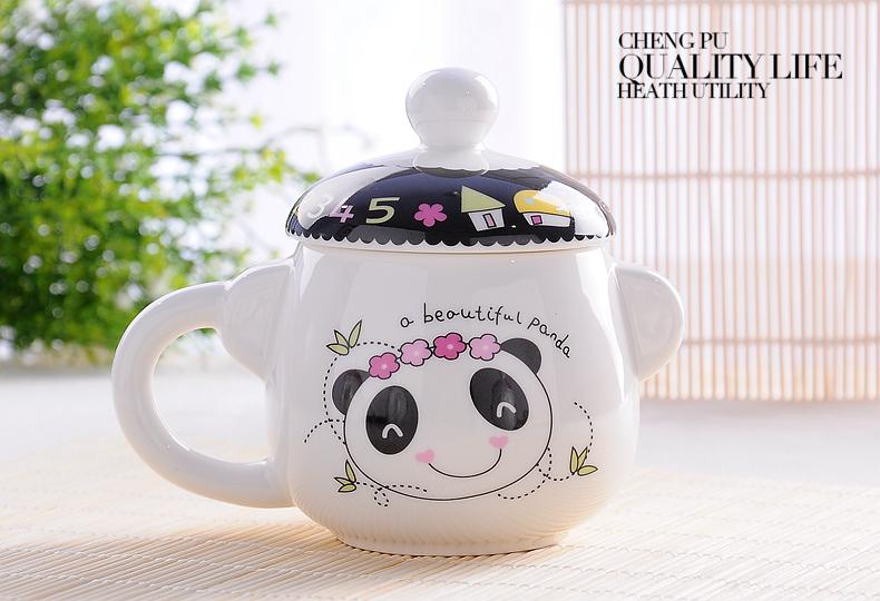 350ML, Ceramic bone china moomin cup tumbler, novelty bear deisgne, small enamel mug, enamel coffee cups, cute thermal mug(China (Mainland))