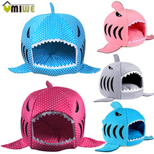 Warm Shark Shaped Pet Bed Luxury House With Mat Dog Sofa Sleeping Bed Cats perro Dog Kennel Goods For Small Dogs Pets Animals(China (Mainland))