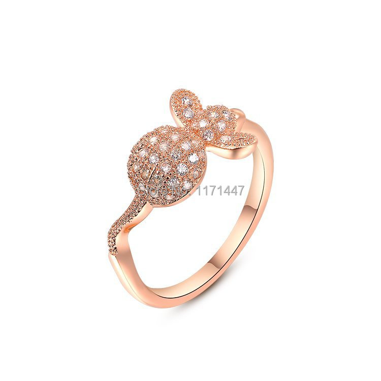 Boys Girls Brand Designer Cute Animal Finger Jewelry Nice Ring Rose Gold / White Gold Plated AAA Cubic Zircon Gold Fish Rings(China (Mainland))