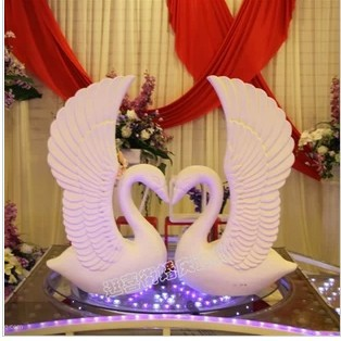 Wedding photography photo props supplies bubble sandstone swan Roman white swan swan road led decoration products(China (Mainland))