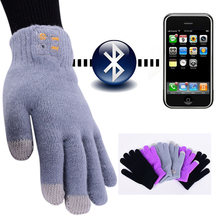 Bluetooth Touch Screen Gloves Hi Call Mic Headset for Android iPhone Free Shipping