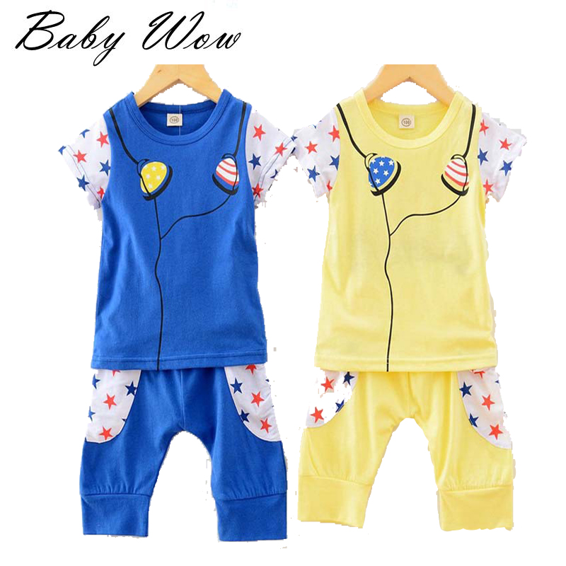 Little Girls Sets Clothing Children Summer Sports Suits Music Star Headphones Patern Boys Girls T-shirt Capri Pants tyh-20449(China (Mainland))