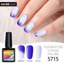 Modelones זיקית תרמו UV ציפורניים ג 'ל פולני שינוי צבע תרמית Led נייל אמייל משרים Off טמפרטורת UV מסמר לכה ג' ל(China)