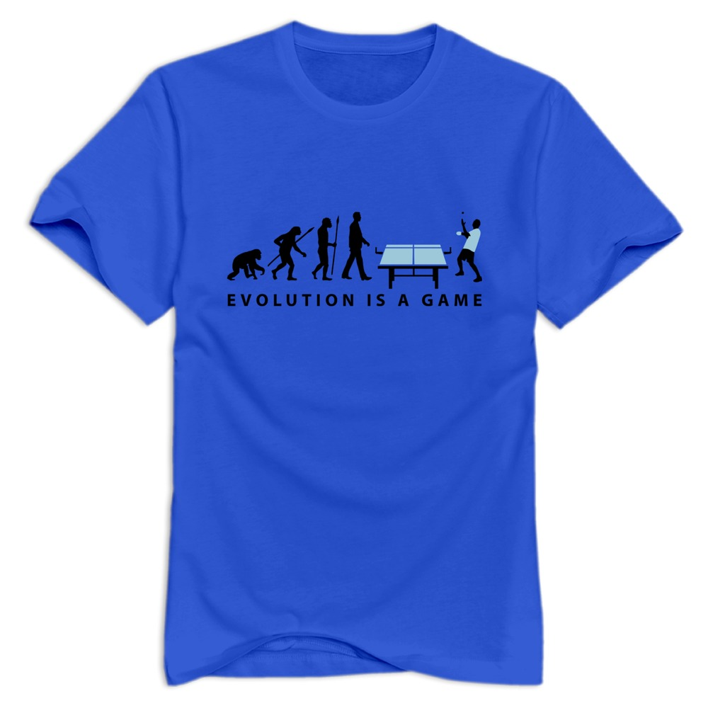 new 2015 evolution table tennis 072012 c 2c man tee shirt custom your own 100% cotton t-shirts men(China (Mainland))