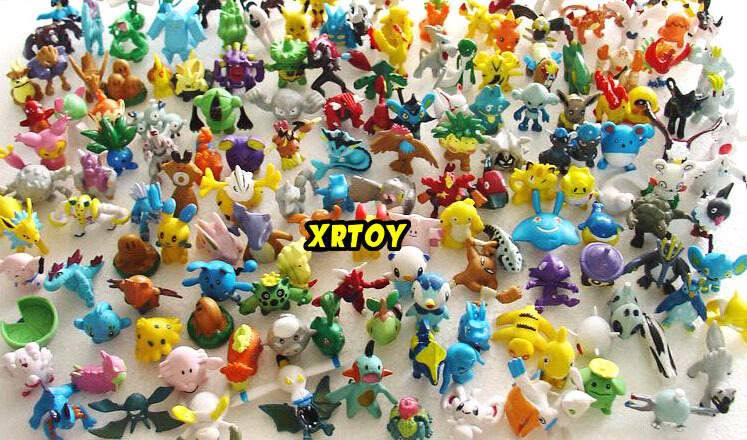 144pcs/lot Pokemon wholesale More style New Cute Monster Mini figures toys Random brinquedos P602 free shipping(China (Mainland))